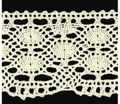 55mm Natural Cotton Torchon Lace (x 0.85 metres)