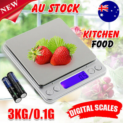 0.1-3000g Mini Electronic Digital Pocket Gold Jewellery Weighing Kitchen Scales