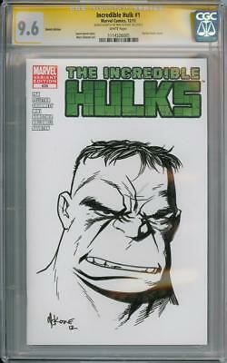 Incredible Hulk #1 Blank Cgc 9.6 Signature Series Signed Mike Mckone Sketch Oa