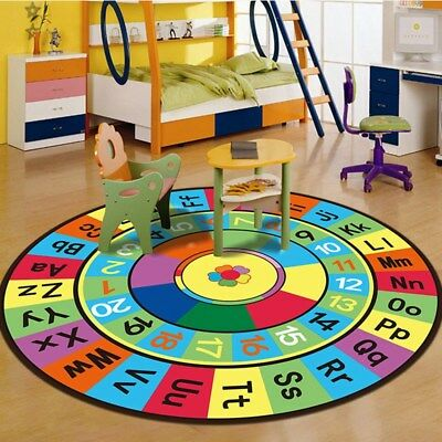 Baby Crawl Mat Soft Play Rug Game Activity Bedroom Nursery Letter Print Carpet