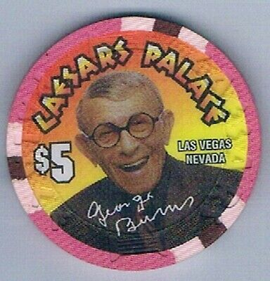 Caesars Palace Hotel $5.00 George Burns 100th Birthday Casino Chip Las Vegas Nv