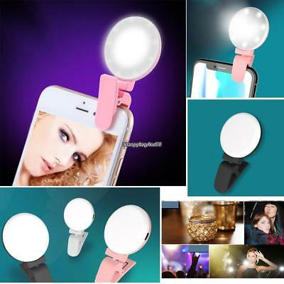 Adjustable Brightness Rechargeable Clip-on Phone Selfie Light for Cell EH7E 02