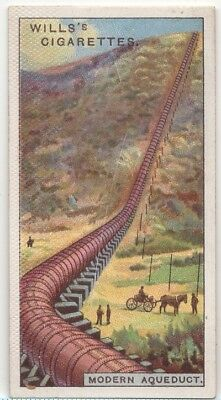 Modern Water Carrying Aqueduct Agua Pipe 90+ Y/O Trade Ad Card