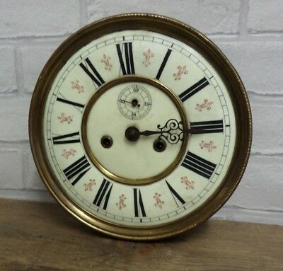 Antique German Vienna Double Weight  Wall Clock Dial & Movement Freiburg Schles