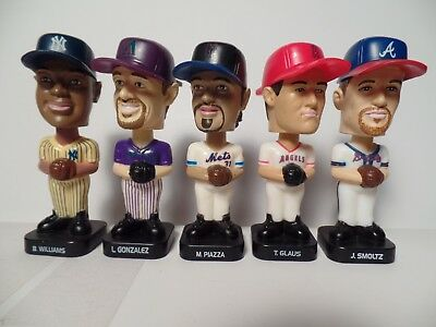 Five 2003 Post Cereal MLB Bobbleheads