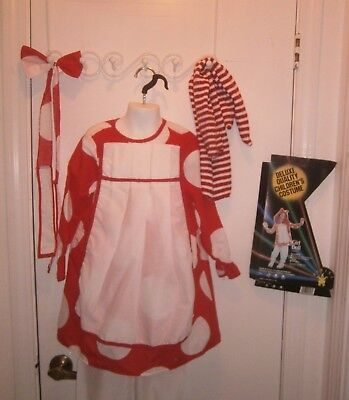 Halloween Costume Child Raggedy Ann Dress Bloomers SocksBow Size 4-6 Rubies