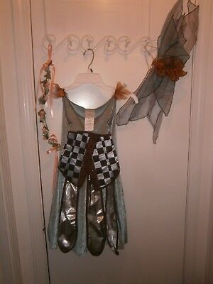 Halloween Costume Child Fairy Dress Headpiece & Wings Size large