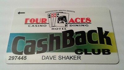 Casino Players Card from Four Aces  Casino in Deadwood South Dakota