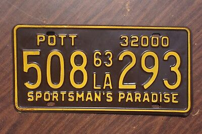 1963 Louisiana POT License Plate 420 - High Quality
