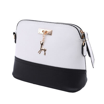 Fashion Crossbody PU Leather Small Shell Bag With Metal Deer Shoulder Bag D