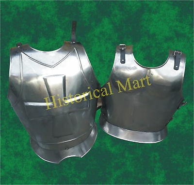 Armor-Medieval-Knight-Steel-Body-Armor-Roman-Muscle-Plate-Cuirass-Leather-Strap