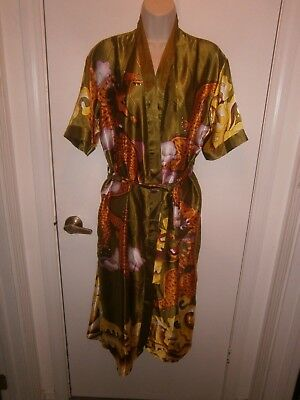 Halloween Costume Adult Asian Kimono Robe & Belt Bright One Size Rebeccas Design
