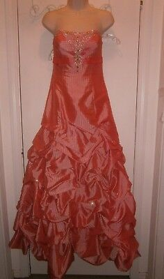 Halloween Costume  Prom Dress Size 6 Flirt Maggie Sottero Sunset Coral Bling