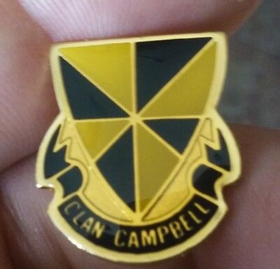 Campbell Family Clan Crest Shield lapel jacket pin pre-owned Coat of Arms