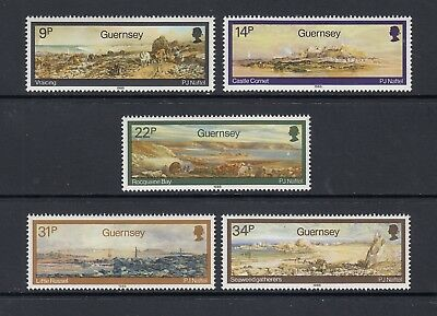 Guernsey  1985  Naftel Paintings Set   Sg 355 - 359   Mounted Mint