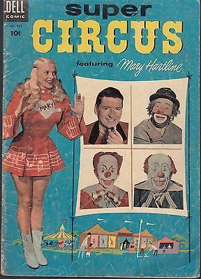 FOUR COLOR  #592 1954 DELL -SUPER CIRCUS featuring MARY HARTLINE TV...VG