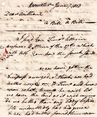 1802, Dr. John Green, Worcester, Mass; letter to brother William, re: business