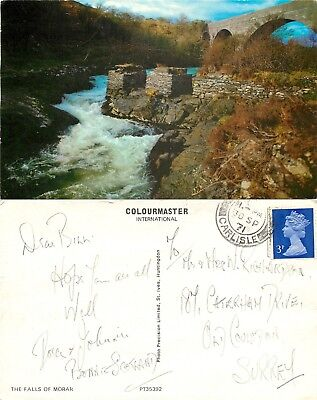 a1420 Falls of Morar, Scotland postcard posted 1971 stamp