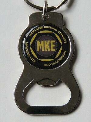 Key Chain Metal Bottle Opener ~*~ MILWAUKEE Brewing Co ~ WISCONSIN Luv MKE Craft