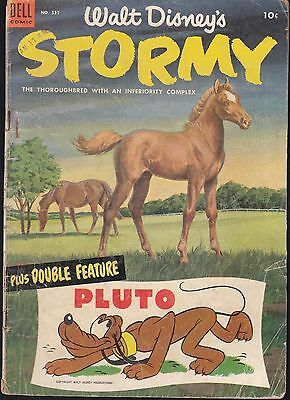 Four Color..#537 1954 Dell -Stormy: The Thoroughbred Walt Disney Double Feature