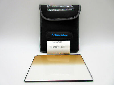 Schneider 4x5.65 Graduated Tobacco 1 Glass Filter Soft Edge with Horizontal Grad