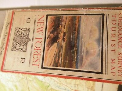 New Forest Hampshire:1920-27 Tourist Ordnance Map In Colour-Palmer Picture Cover