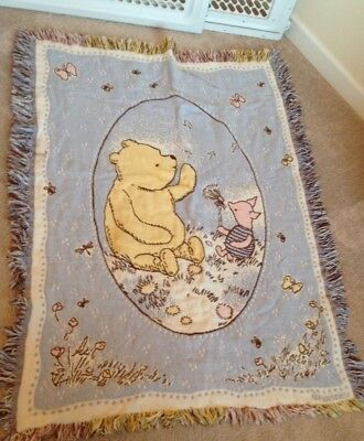 disney winnie the pooh and piglet small tapestry throw 30 by 41 inches