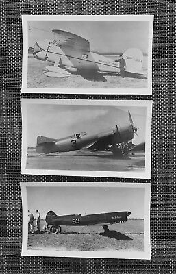 Lot Of 3 Cleveland National Air Races & Historical Airplane Photos Winnie Mae