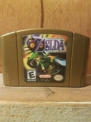 The Legend of Zelda:  Majora's Mask 3D Hologram AUTHENTIC N64 NINTENDO 64 GAME