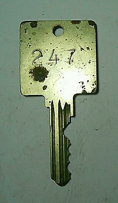 Key Brass 247 Square Bow Cut USA Hotel Motel Collectible Arts Crafts Vintage