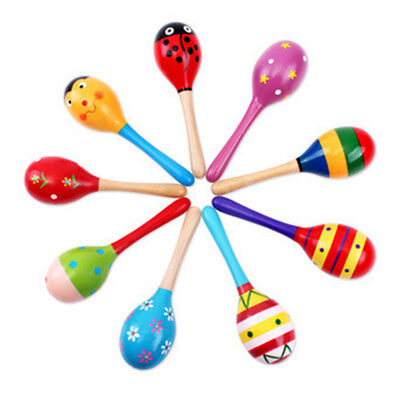 1Pc Baby Kids Sound Music Gift Toddler Rattle Musical Wooden Intelligent Toy