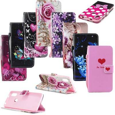Wallet PU Leather Flip Stand Phone Case Cover w/ Lanyard for Xiaomi RedMi S2