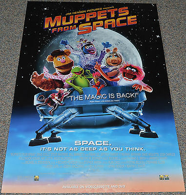 MUPPETS FROM SPACE 1999 ORIGINAL 27x40 ONE SHEET VIDEO RELEASE MOVIE POSTER!