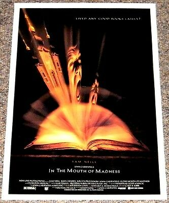 IN THE MOUTH OF MADNESS 1994 ORIGINAL 27x41 MOVIE POSTER! JOHN CARPENTER HORROR!