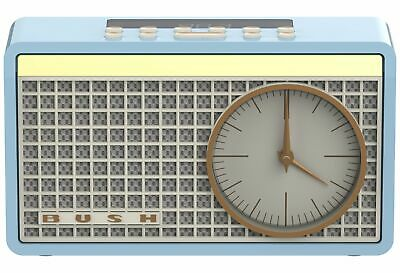 Bush Classic Retro Analogue Clock Radio - Blue.