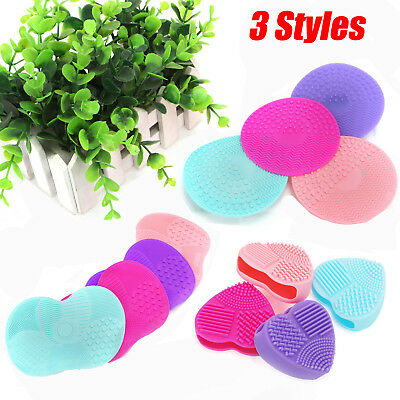 Makeup Silicone Brush Cleaner Pad Washing Scrubber Cosmetic Cleaning Board Mat