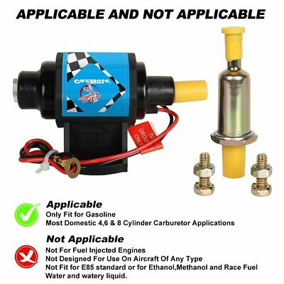 Electric 12v Fuel Pump 12 volt Solid State 35 GPH 4 to 7psi Petrol Universal