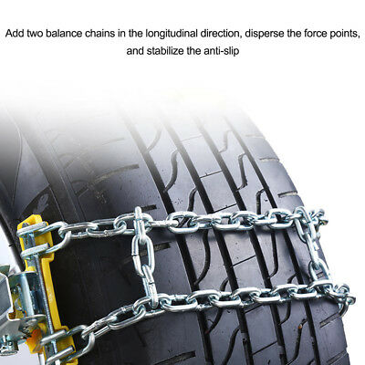 Wheel Tire Snow Anti-skid Chains for Car Truck SUV Emergency Winter Driving