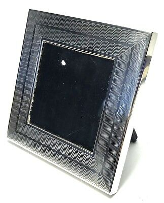 Solid Silver Tiffany & Co Engraved Square Picture Photo Frame 182.7g  1980