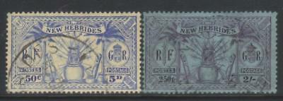 New Hebrides 1925 Msca Sg47/50 Used