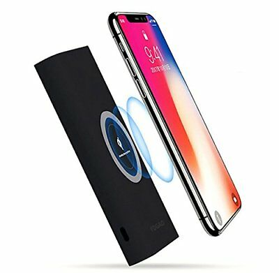 iphone Xs Max/Pixel 3 XL Power Bank 12000mAh QI Wireless Portable Charger 2 in 1