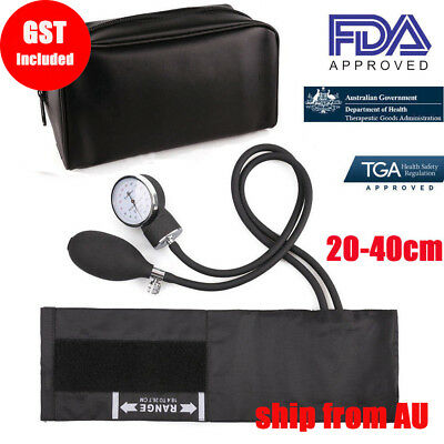 Aneroid Sphygmomanometer Arm Blood pressure Monitor Stethoscope Cuff Dial Set AU