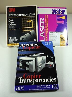 Lot 150+ Copier Transparency Film Sheets for Plain Paper Copiers 3M, IBM, Avatar
