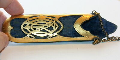 Art Nouveau Gilt Chatelaine Spectacles Case Etui. Page 63 In My Book, C 1900