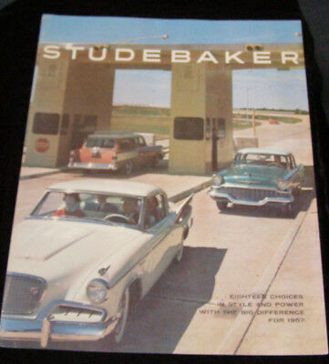 Studebaker 1957 full line sales brochure large