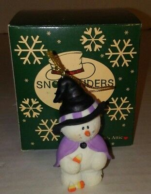Sarahs Attic Snowonder OCTOBER Witch w/ Candy Corn Halloween Retired NEW IN BOX