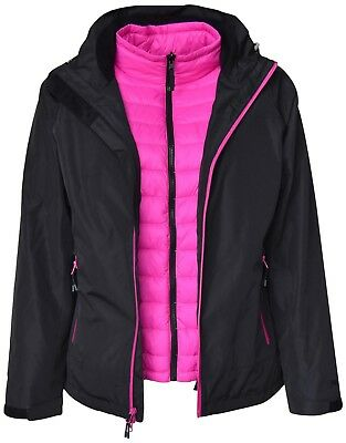 83afd1bea4b New Pulse Womens Plus Size 3in1 Swiss Snow Ski Jacket 1X 2X 3X 4X 5X BLK