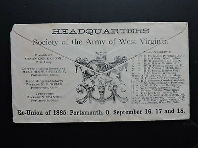 1885 Army West Virginia Civil War Reunion Ohio ! President Rutherford B Hayes +!