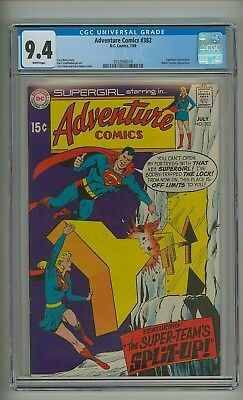 Adventure 382 (CGC 9.4) White pages; Adams cover; None graded higher! (c#17278)