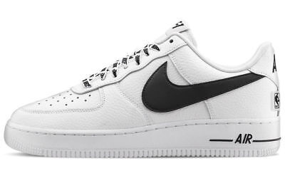 Scarpe Nike Air Force One 1 Low 07 Nba White Black Uomo Donna Bianco Nero Shoes